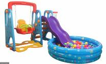 Kid's Slide & Swing Set with Ball Pool