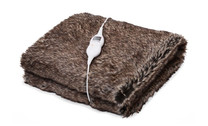 Goldair Faux Fur Heated Throw