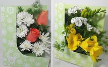 Fresh Living Flower Card