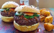 Two ReOrieNtal Burgers, Fries & Drinks