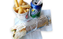 Large Kebab, Large Fries & Large Drink