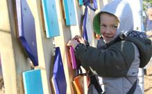 Pre-Schooler Climb on the Rocketeer Course