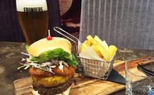 Gourmet Beercraft Burger with Agria Fries