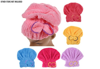 Quick Dry Hair Towel - Six Colours Available