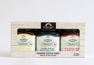 3 x 250g Rainbow Station Gift Pack Honey Assortment