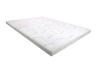Memory Foam Topper with Bamboo Covering