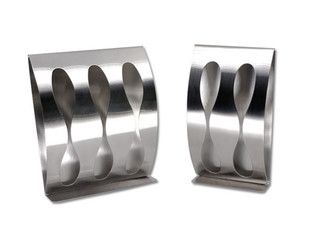 Stainless Steel Wall Toothbrush Holder - Options for Two or Three Slots or Both