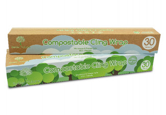 Six Pack of 30m Compostable Clingfilm