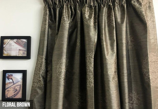 From $39.95 for 100% Blockout Thermal-Coated Readymade Curtains – Four Designs Available