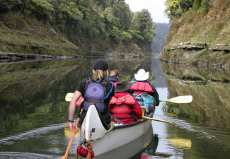 Four-Day Canoe Safari Down The Whanganui River for One Adult incl. Experienced Guide, Overnight Camping, Bridge to Nowhere Walk & All Meals - Option for Child Available