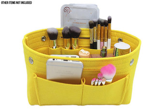 Cosmetic Storage Handbag Insert - Three Colours & Option for Two Bags Available with Free Delivery