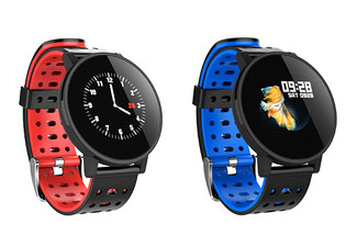 Touch Screen Smartwatch & Fitness Activity Tracker - Two Colours Available