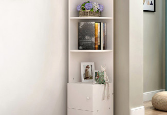 Modern Corner Shelf - Two Colours Available