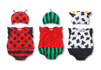 $18 for a 100% Cotton Baby Dress Up Romper - Seven Options Available