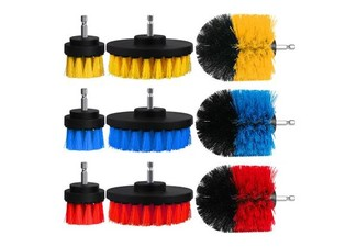 Three-Piece Power Cleaning Drill Accessories Set - Three Colours Available with Free Delivery