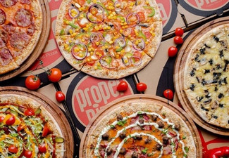 One of NZ's Largest Pizza  - Option for Two Pizzas & to incl. Four Peroni Beer or Four Wines