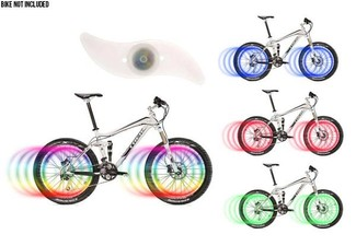 LED Bike Wheel Lights Two-Pack - Four Colours Available