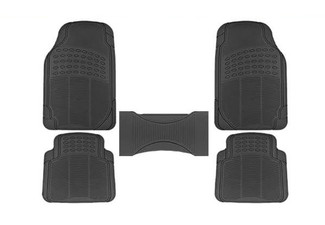 Five-Piece Heavy-Duty Rubber Car Floor Mat Set - Option for Two Sets Available