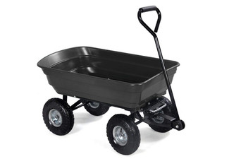 Black Garden Cart Trolley