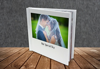 20-Page 30 x 30cm Hard Cover Photo Book - Options for up to 80 Pages incl. Delivery