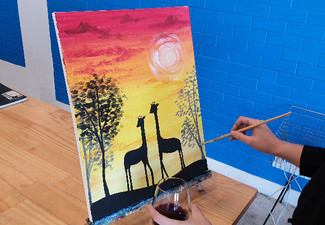 Two-Hour Social Painting Class for One Person incl. Drink - Options for up to Ten People