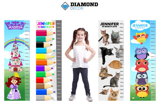 $19 for a Personalised Growth Chart Standard Poster or $29 for a Removable Peel & Stick Self-Adhesive Poster incl. Nationwide Delivery