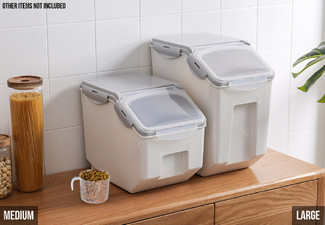 Dry Food Storage Box - Two Sizes Available