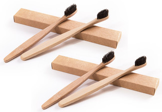 Pack of Four Organic Bamboo Toothbrushes