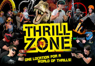 $20 Voucher for ThrillZone for One Person - Options for up to Eight People