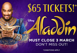 Ticket to Aladdin - The Musical at The Civic, Auckland (Booking & Service Fees Apply)