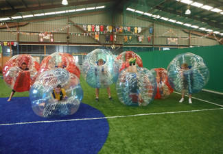 Four vs Four 60-Minute Zorb Soccer Game incl. Court Hire, Bubble Suits & Referee