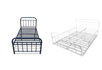 Darcy Metal Bed - Two Sizes & Two Colours Available