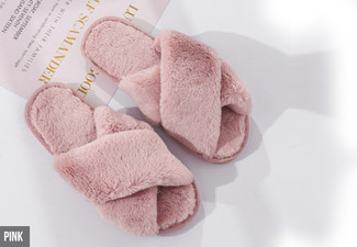 Faux Fur Slippers - Five Colours & Three Sizes Available