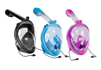 Full Face Snorkeling Mask with Ear Plugs - Three Colours & Two Sizes Available