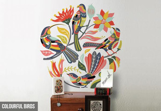 $29.95 for a Colourful Fantail, Birds or Kiwiana Large Wall Decal (value $89)