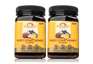 Two-Pack of Nelson Honey & Lemon 500g - Options for Four, Eight or Twelve