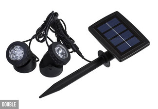 Solar-Powered LED Garden Double Lights - Option for Triple Lights
