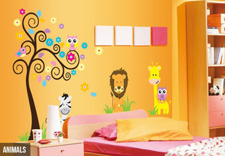 Assorted Child's Room Decals - Six Styles Available