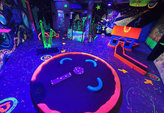 18-Hole Game of Glow-in-the-Dark Mini Golf for One - Options for up to Six People