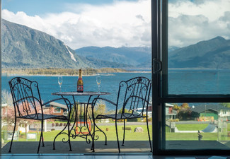 One Night, Four-Star, Lake Brunner West Coast Escape for Two People in a Lake-View Studio Suite incl. Continental Breakfast Basket, Late Check Out & Free Parking - Option to incl. a F&B Voucher & Two or Three Nights