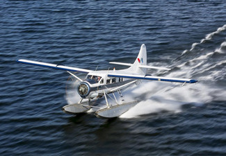 Crater Lakes Flight Package By Floatplane & Lunch at Ambrosia Restaurant for Two People - Options for Four or Ten People