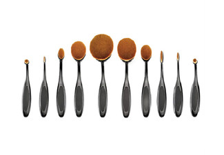 Oval Make-Up Brush Set