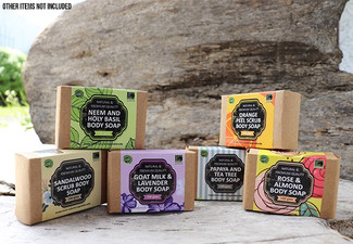 Set of Six Herbal Natural Bath Soaps - Six Scents Available