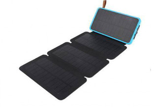 10000mAh Solar Power Bank with Four Panels