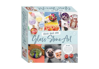 Artmaker Glass Stone Art Craft Kit Tuckbox - Option for Two Available with Free Delivery