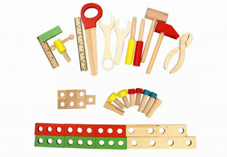 Kid's Wooden Play Hand Tool Set