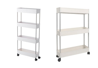 Three-Tier Storage Organiser Shelf with Wheels - Option for Four-Tier