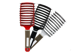 Anti-Static Scalp Massage Detangle Wide Paddle Brush - Three Colours Available