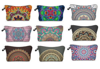 Mandala Cosmetics Case - Nine Colours Available