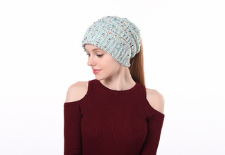 Speckled Ponytail Beanie - 15 Colours Available